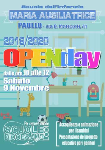 2019.10.23 locandina openday materna - paullo