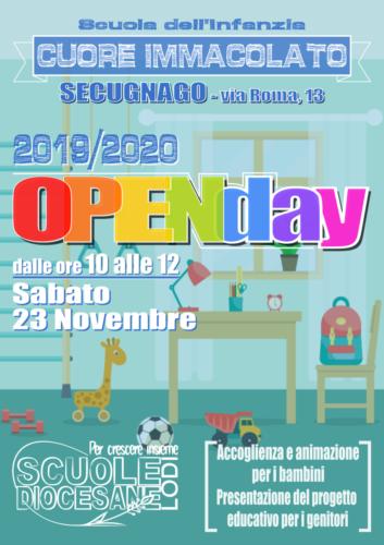 2019.10.27 locandina openday materna - secugnago